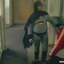 Real life Batman hands suspect over to police