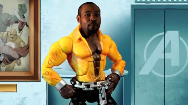Isaiah Mustafa as Luke Cage in Hero Spice spoof