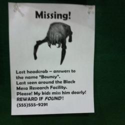 Missing Headcrab