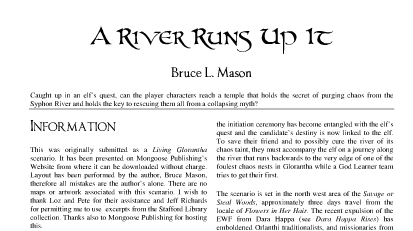 Free to Download: A River Runs up it
