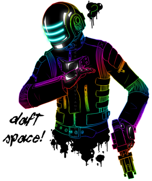 Daft Space is Daft Punk merged with Dead Space