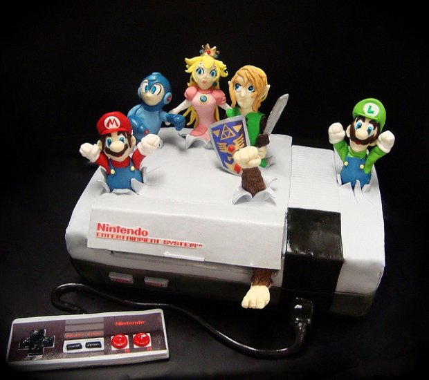 Tasty looking, awesome, NES Cake