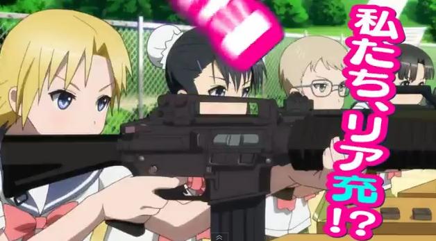 Assault rifles as anime girls – Upotte!! trailer