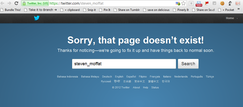 Doctor Who boss Steven Moffat deletes Twitter account, replaced by imposter