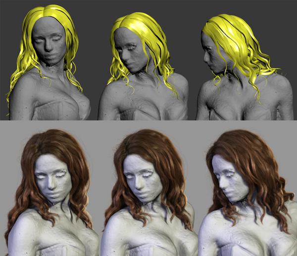Cyberpunk 3D hair 4