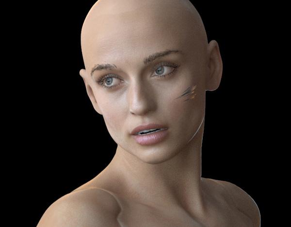 Cyberpunk 3D hair 2