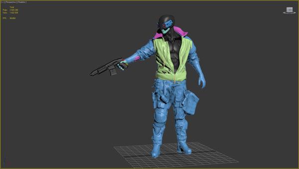 Cyberpunk 3D hair 11