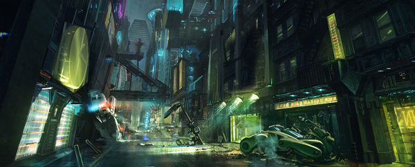 Cyberpunk Art Enviorment 1