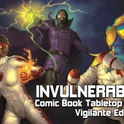Invulnerable Comic Book Tabletop RPG Kickstarter offers OGL