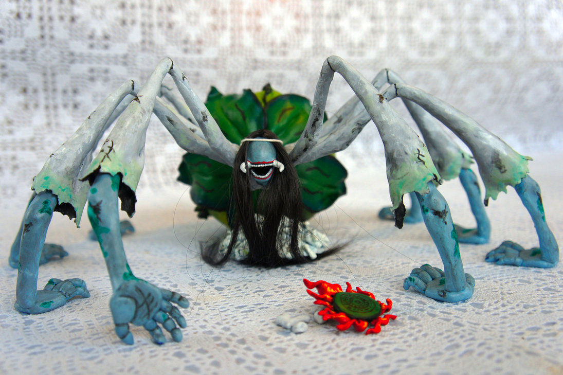 spider_queen___sculpture_by_escaron-d5z2z8v