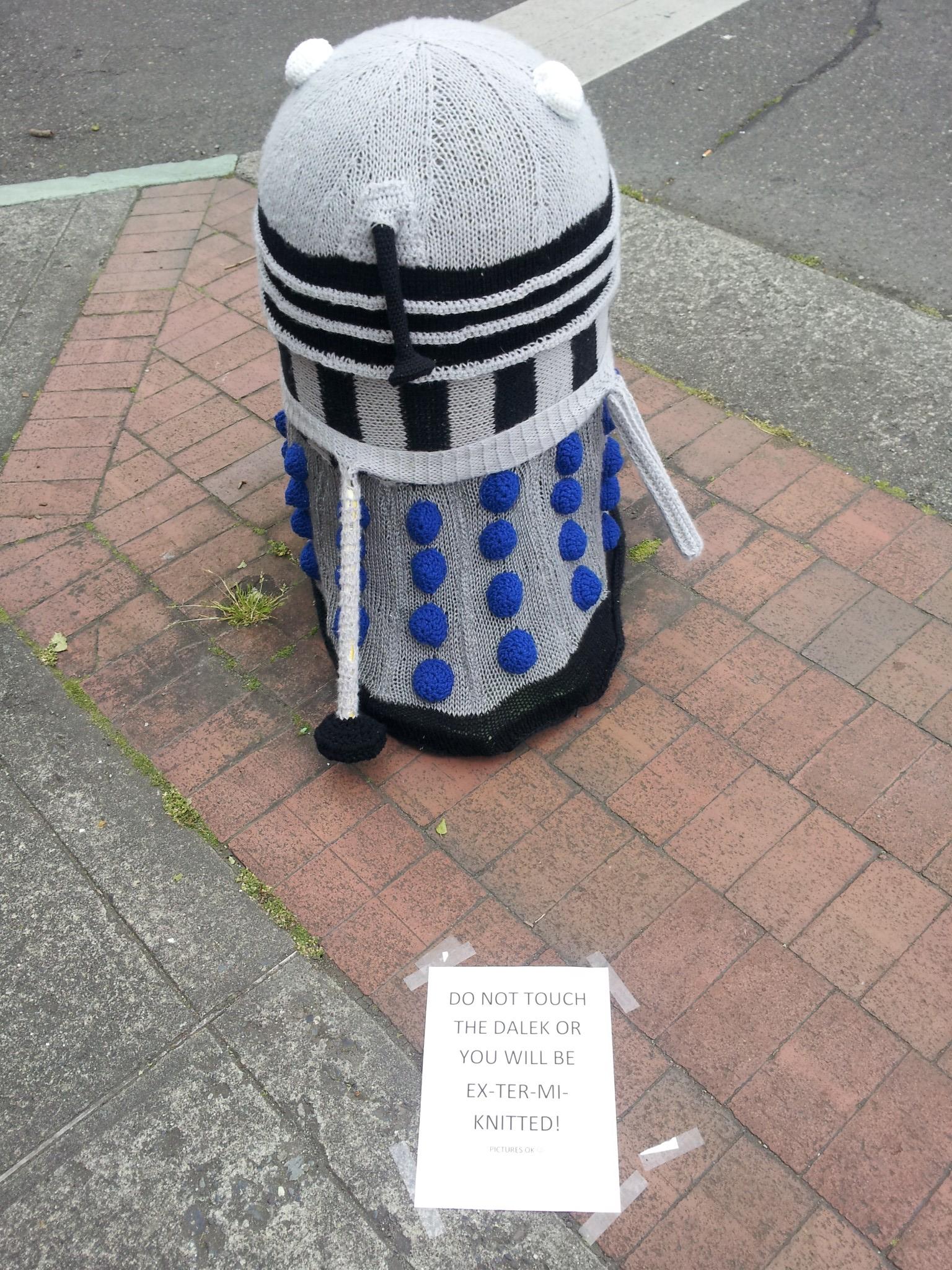 Knitted Dalek 2