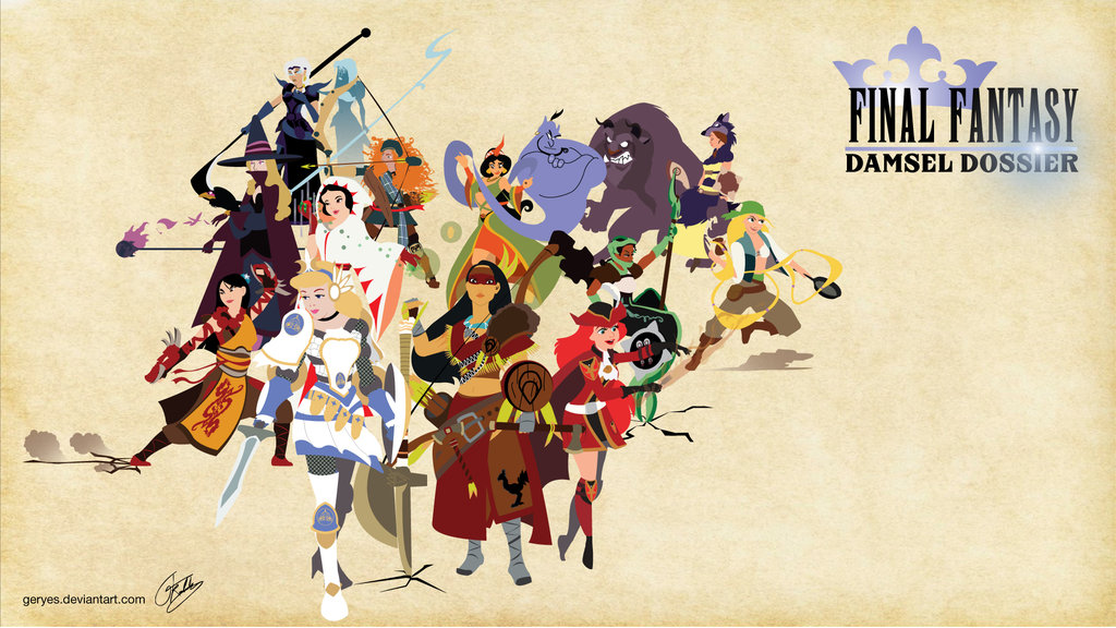The Battle Disney Princesses As Final Fantasy Characters