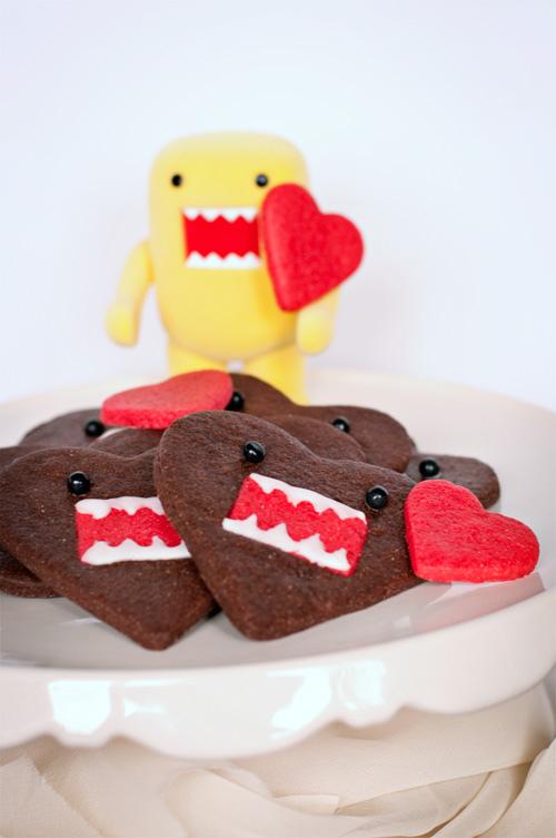 Domo-kun heart cookies 1