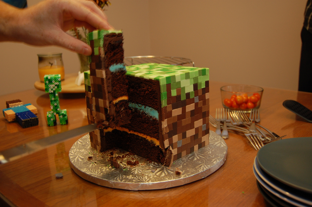 Minecraft Cake 2-2
