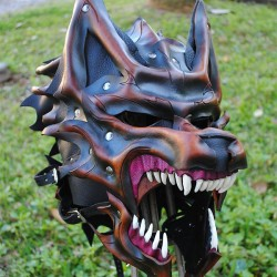 Epic Dire Wolf leather battle mask