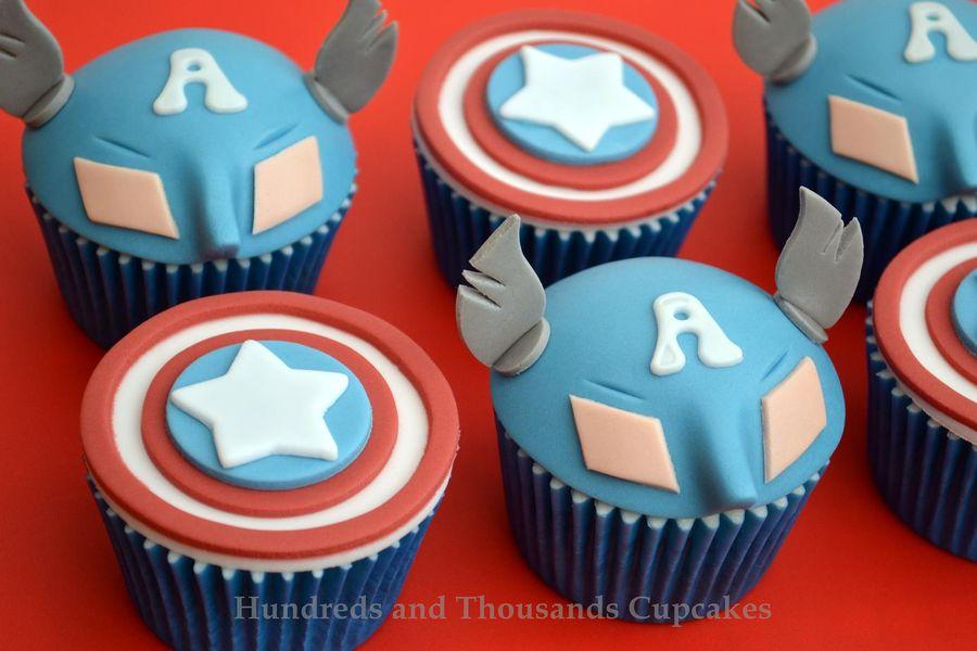 Captain America cupcakes 4