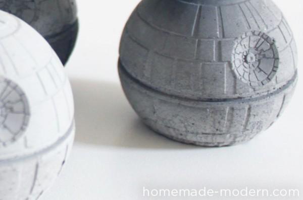Concrete Your Own Death Star Vase