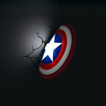Superhero week avengers 3d wall lights wall light captain america mozeypictures Gallery