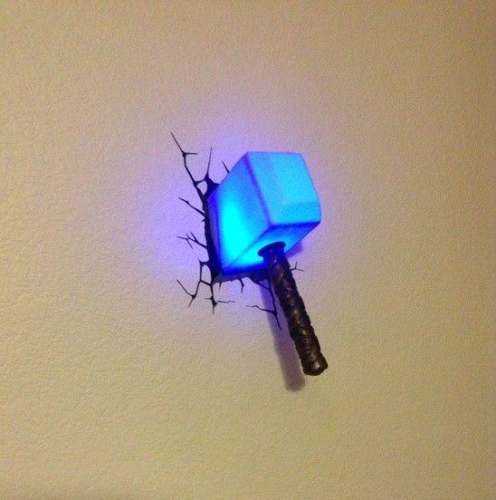Superhero week avengers 3d wall lights wall light thor aloadofball Gallery