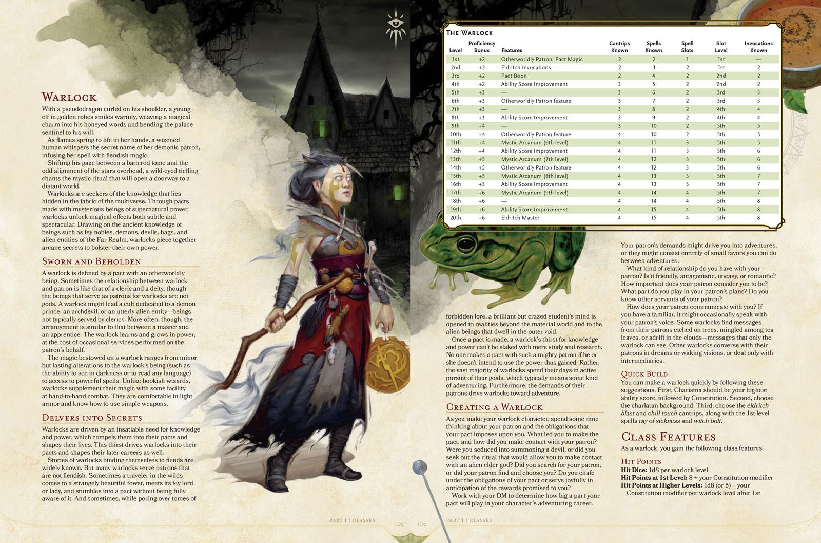 D&D 5e: Warlock Class