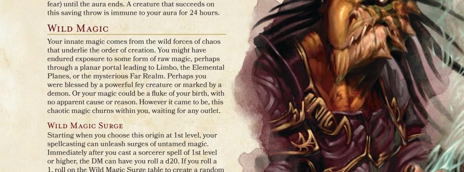D&D 5e: Wild magic