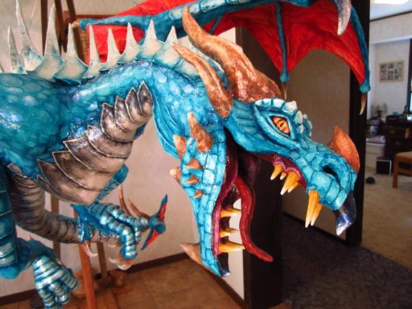 Making the perfect paper mache dragon