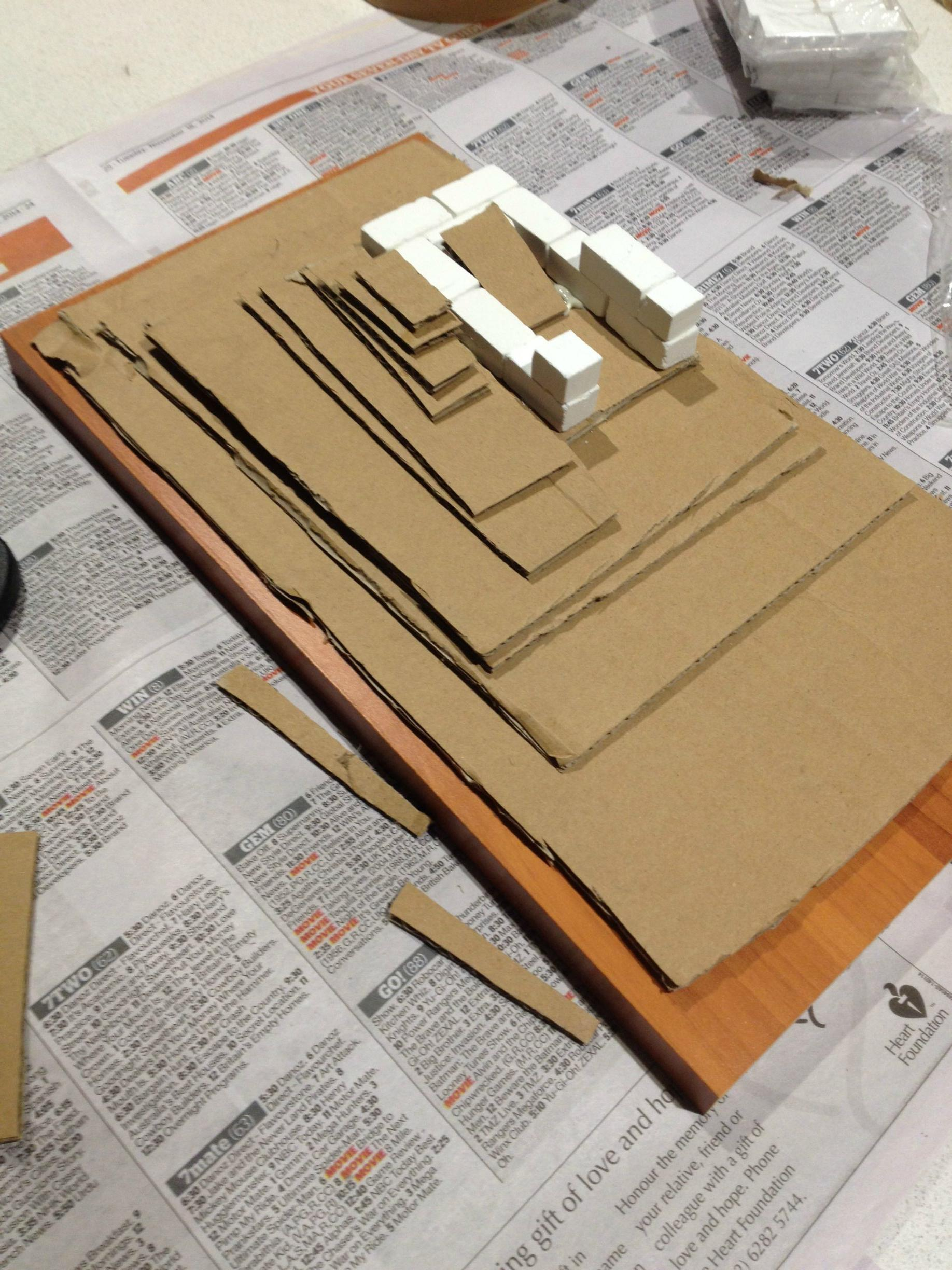 03 - The base of the Dice tower - with improvised ramp