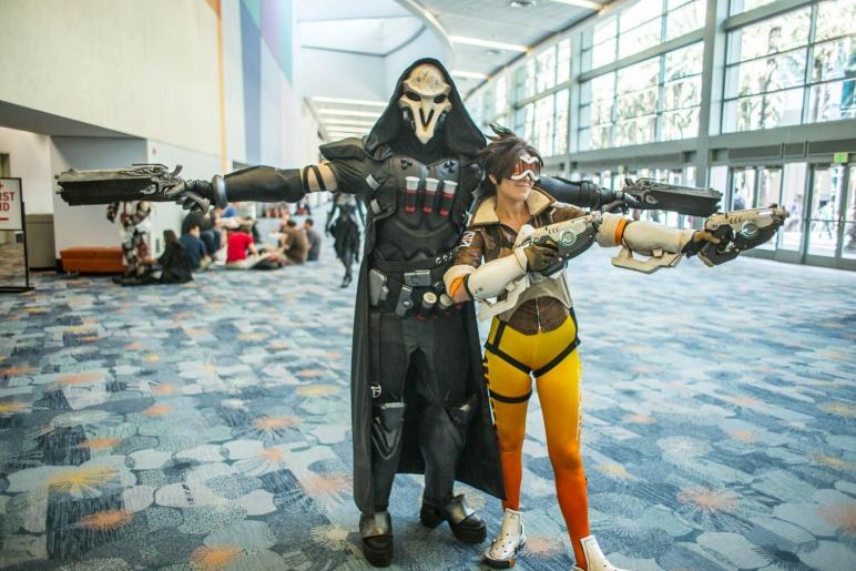 overwatch cosplay widowmaker reaper tracer and mercy