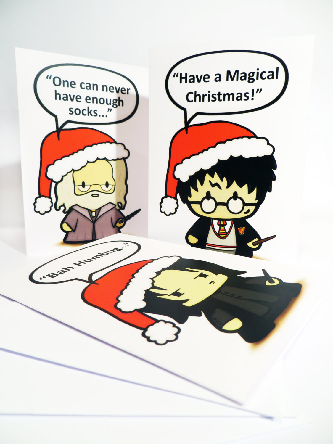harry potter christmas cards