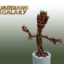Baby Groot manages to look cute even in LEGO