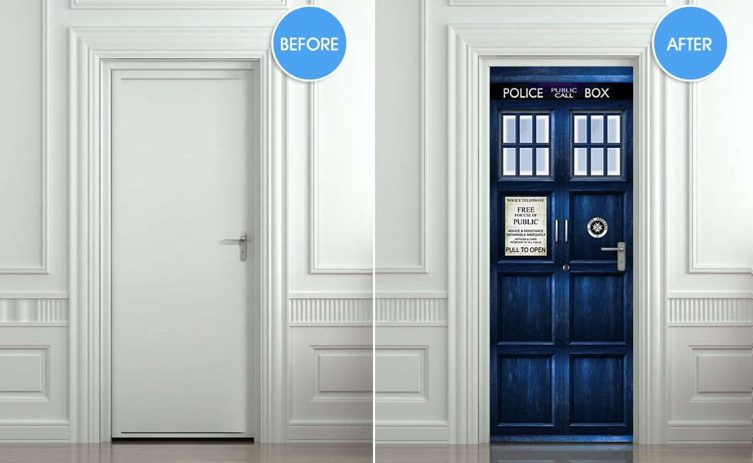 Transform your door with this TARDIS decal