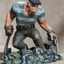 The Goon statue returns in colour