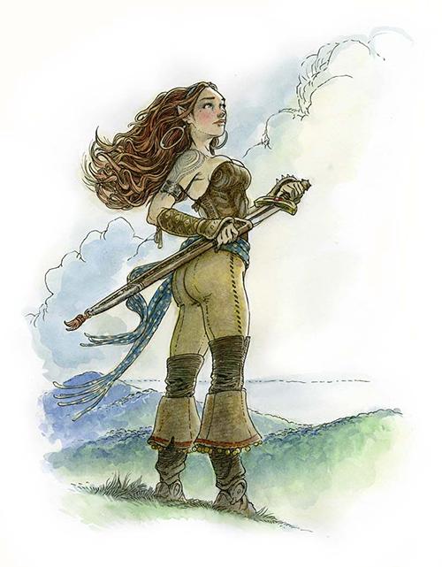 Angelica (Dark Sword Miniatures Design)