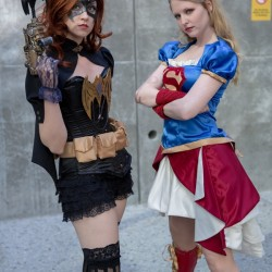 Superhero Week: Steampunk Supergirl and Batgirl