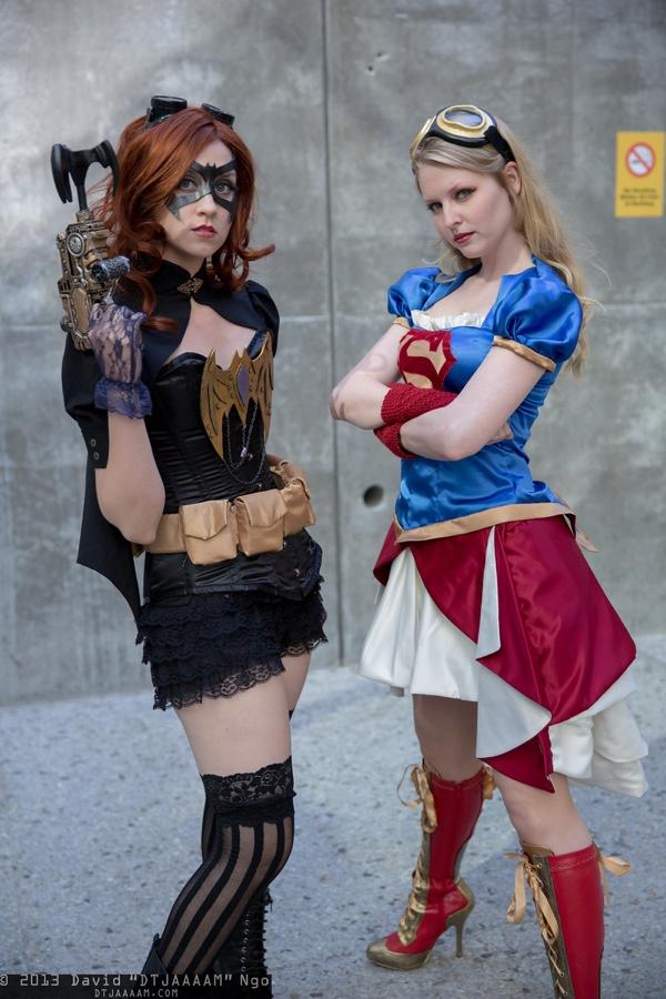 steampunk-batgirl-and-supergirl