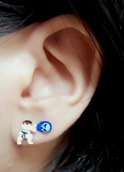 hadouken cool are these street fighter earrings