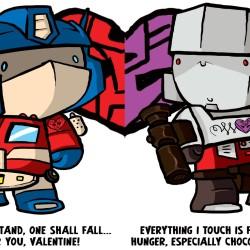 Transformer Valentine's Day cards