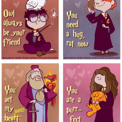 James Stowe's Harry Potter Valentine's Day cards