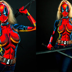 You're not looking at comic art; this is body paint cosplay!