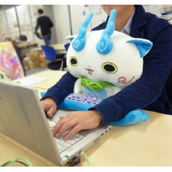Plushie monsters protect your wrists while you type