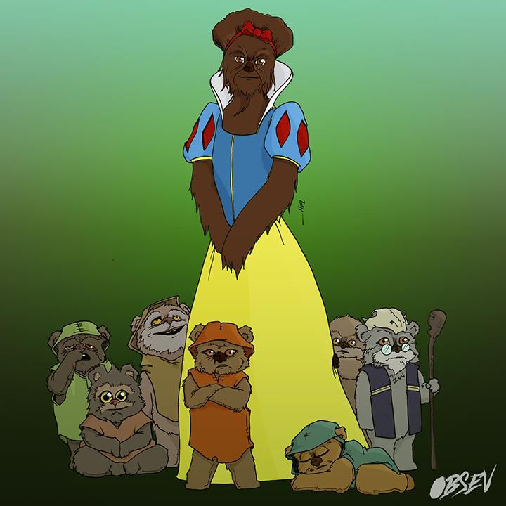 Disney Princess Wookie 4