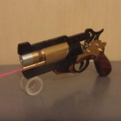 A homemade laser revolver, improved