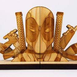 Deadpool and Batman bookends to keep your RPGs safe