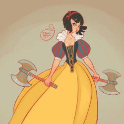 Kick-ass Disney princesses with weapons