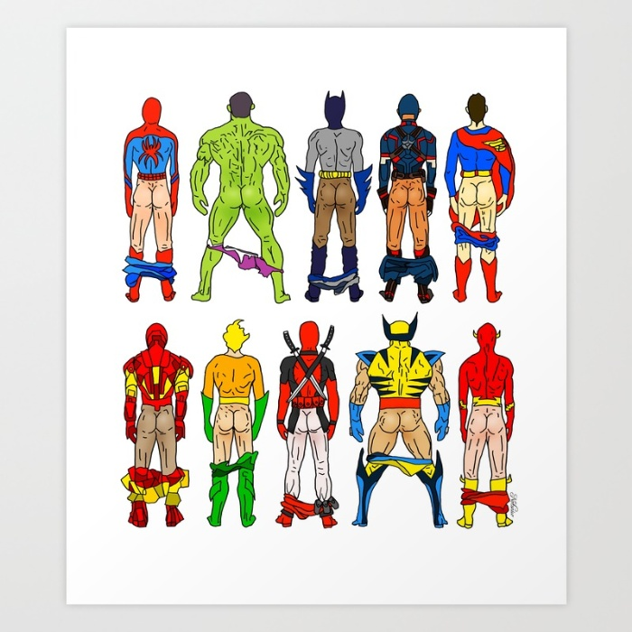 superhero-butts-prints