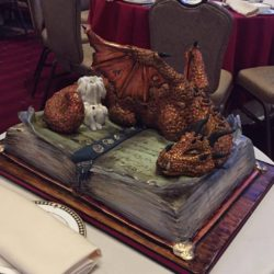 Mighty dragon groom cake