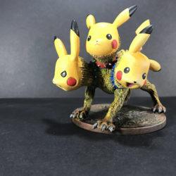 Behold! A Pikachu Cerberus!