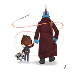 Yondu's Father's Day card