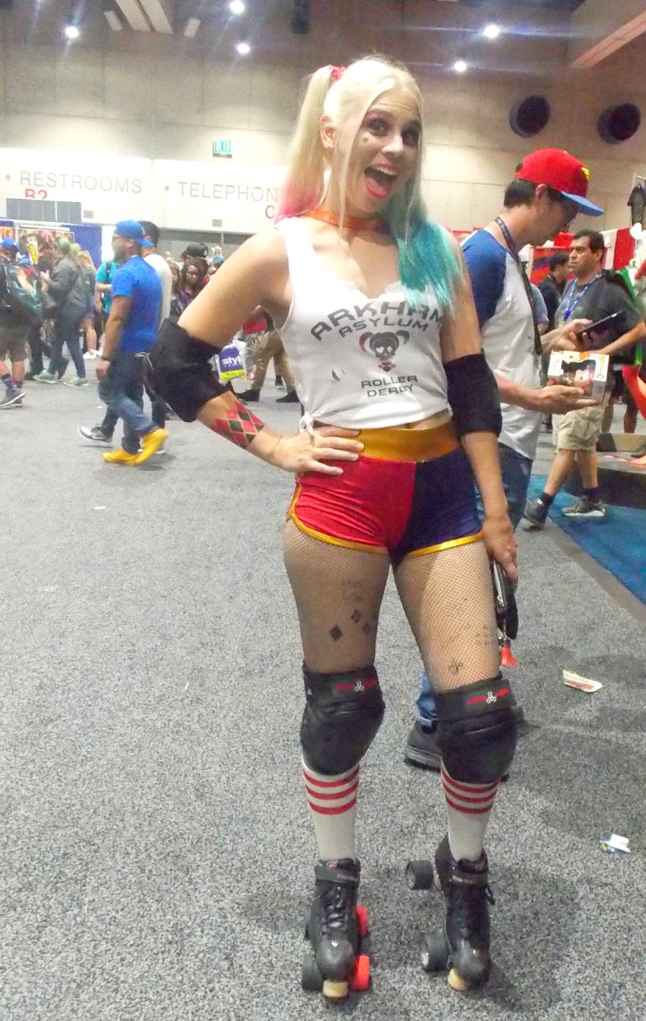 harley cosplays have always been popular at the convention even before suicide squad was released and since then the have probably been twice as many