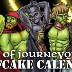 If you wanted…  support this sexy orc beefcake 2018 calendar